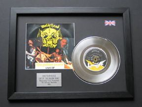 "MOTORHEAD - Live EP Golden 7"" Platinum Disc with Cover"